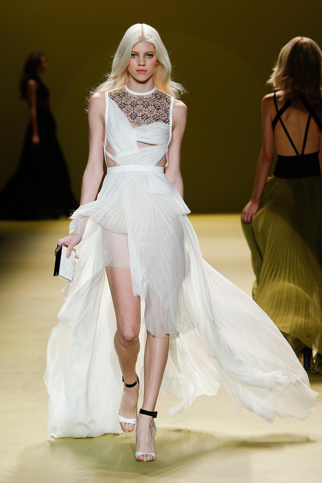 J mendel white dress plus
