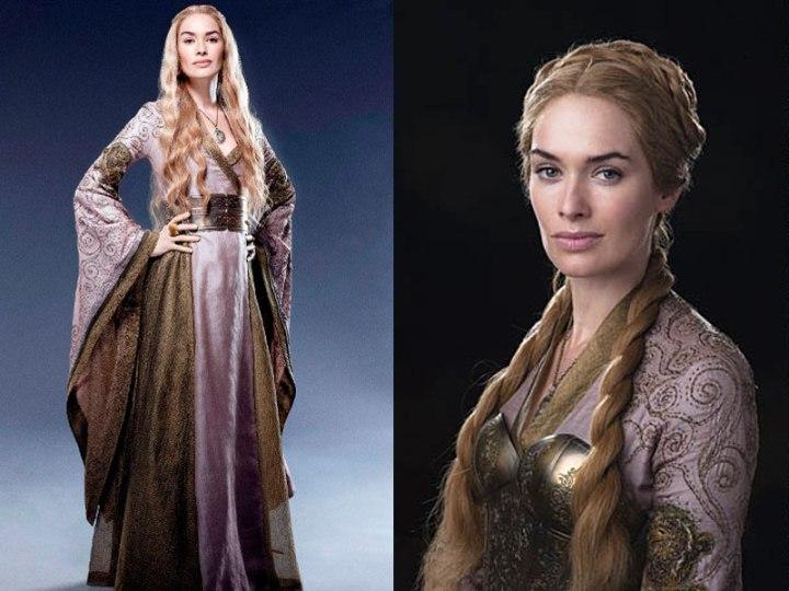 Cersei robe portefeuille rose