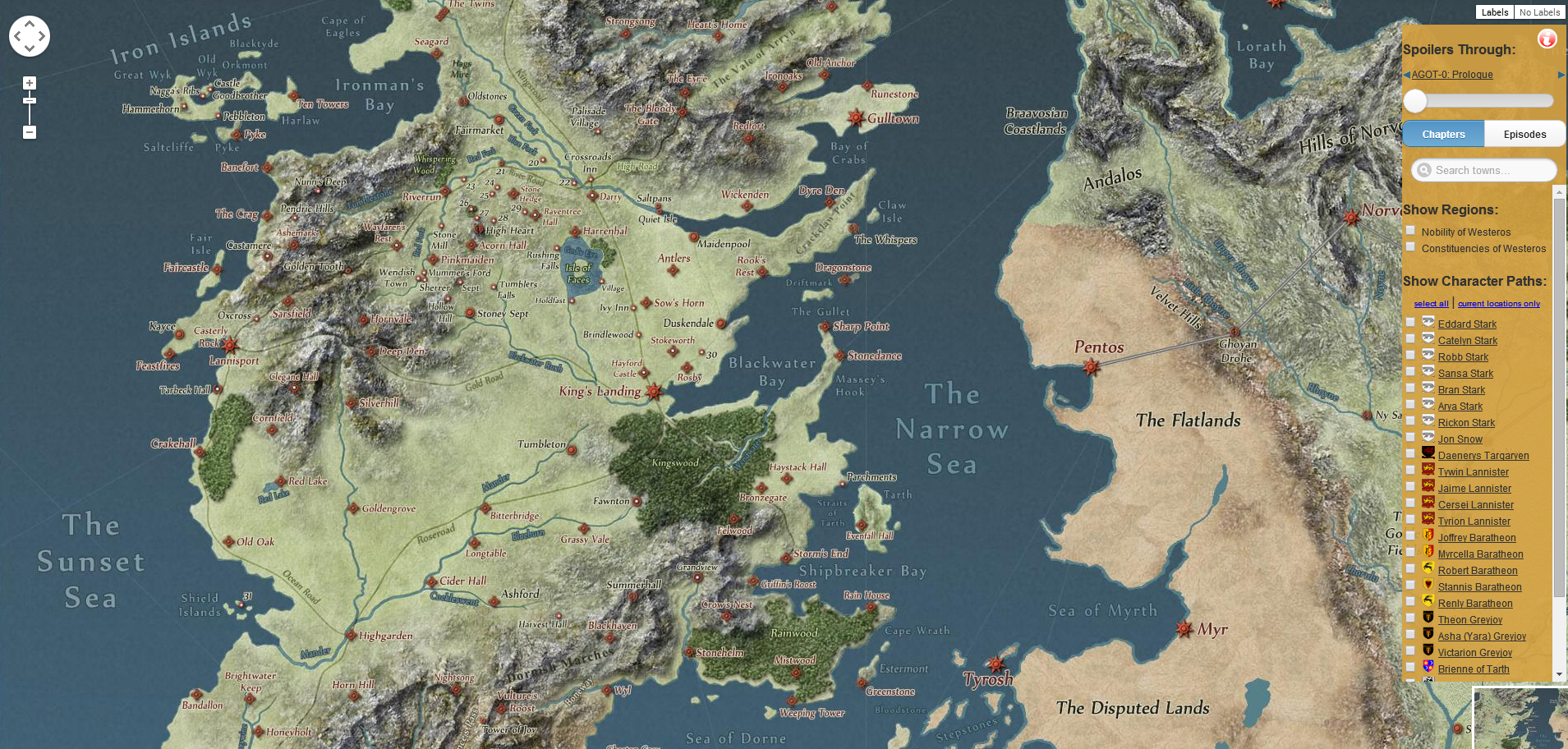 Interactive Map Of Westeros An Interactive Map of Westeros (And Essos) – Ani & Izzy