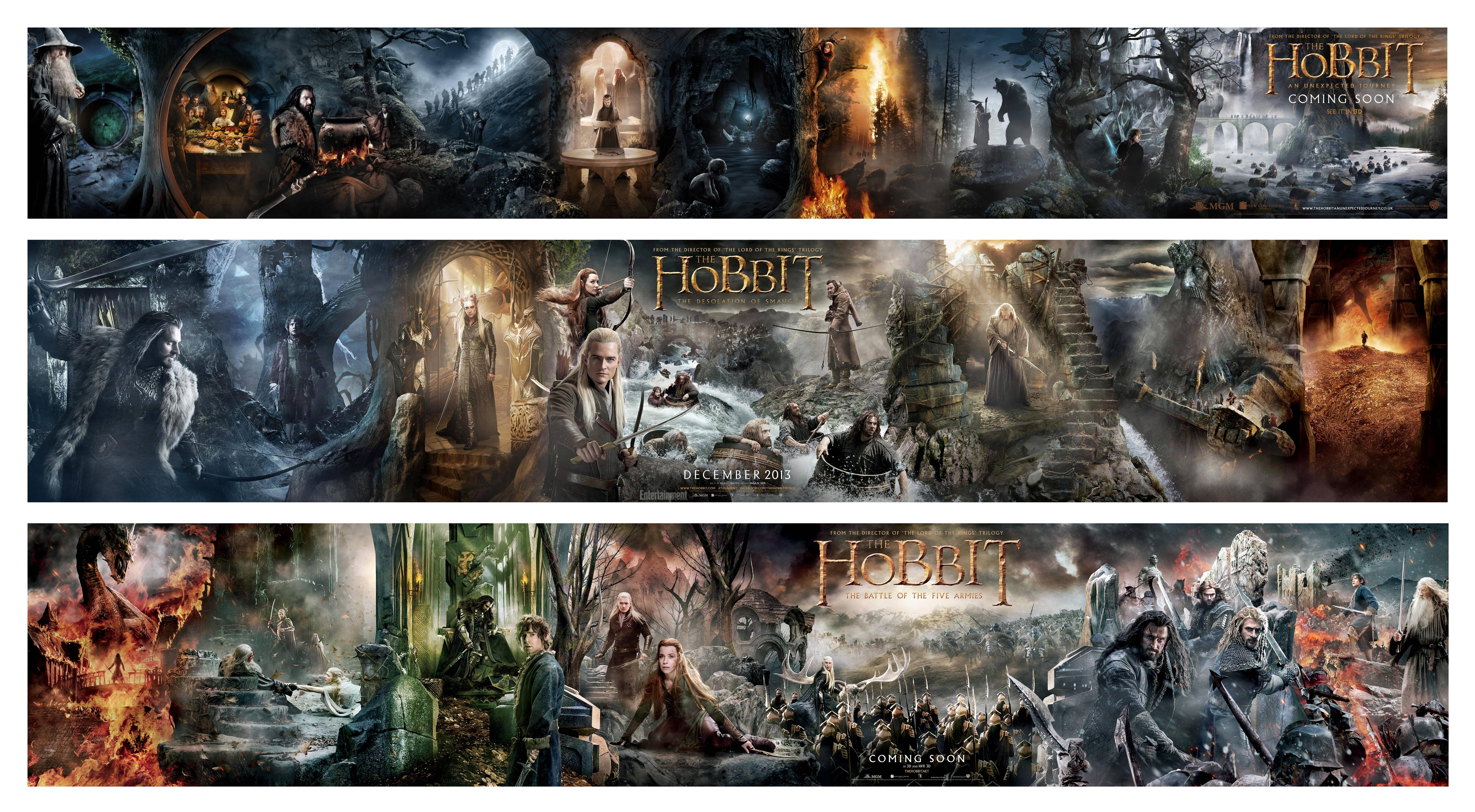 """""""The Hobbit: Battle of The Five Armies"""" Ginormous Banner ..."""