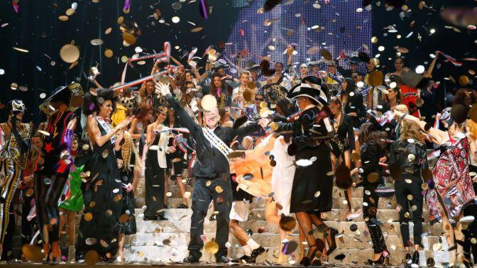 Jean Paul Gaultier : Front Row - Paris Fashion Week Womenswear Spring/Summer 2015