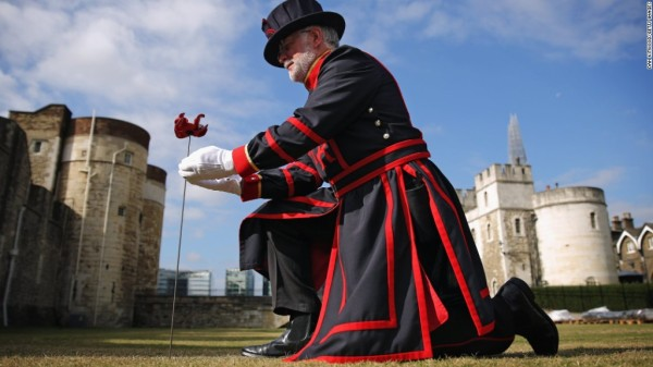 <> at Tower of London on July 17, 2014 in London, England.