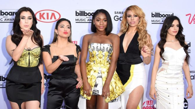 LAS VEGAS, NV - MAY 17:  (L-R) Singers Lauren Jauregui, Ally Brooke, Normani Hamilton, Dinah-Jane Hansen and Camila Cabello of Fifth Harmony attend the 2015 Billboard Music Awards at MGM Grand Garden Arena on May 17, 2015 in Las Vegas, Nevada.  (Photo by Jason Merritt/Getty Images)