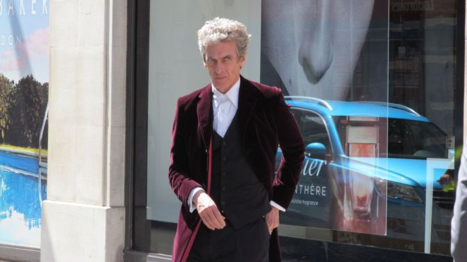 doctor who filming banner