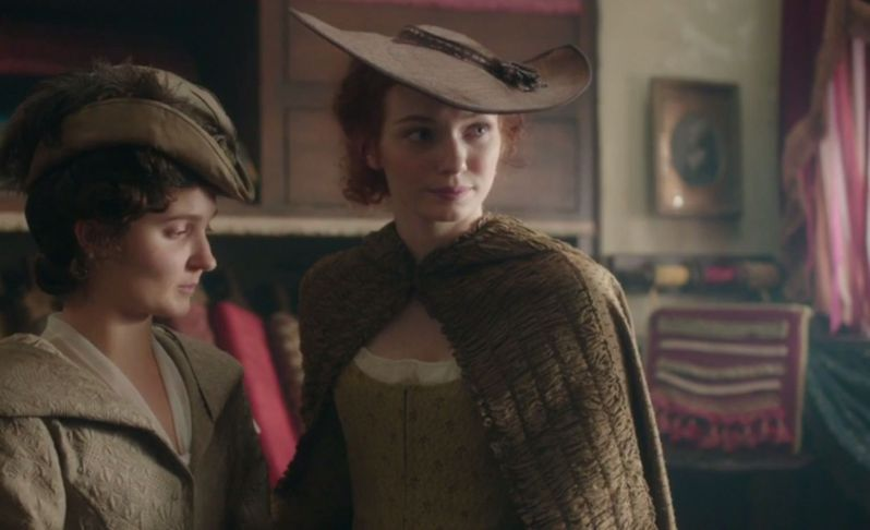 """Demelza, in her """"I'm rebelling against society's mores while looking fashionable"""" hat"""