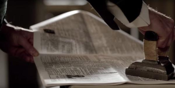 ironing newspaper