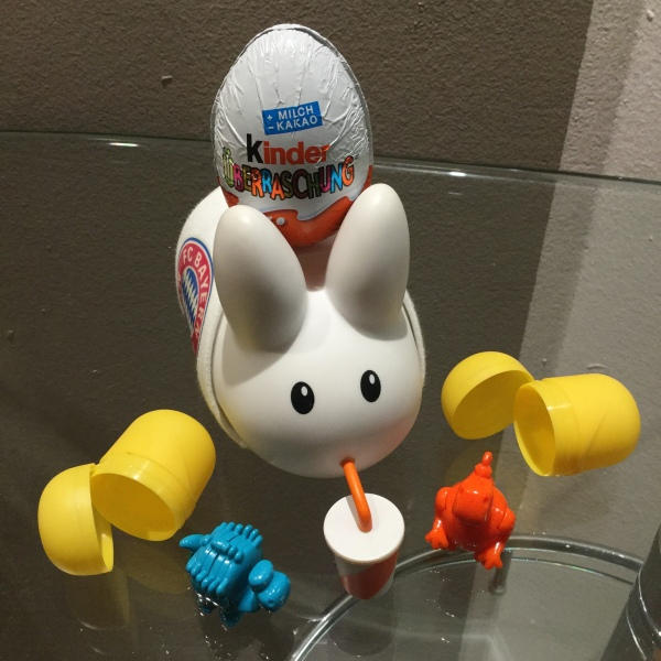 Munich-Kinder Surprise Eggs ready to choke