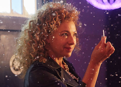 Picture shows: Alex Kingston as River Song and Phillip Rhys as Ramone
