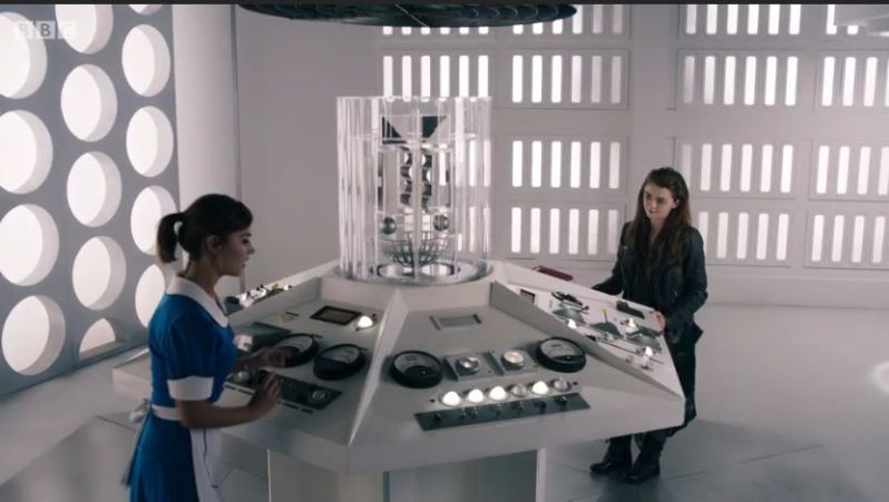 Me and Clara Oswald in the TARDIS