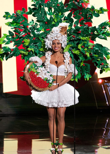 Brenda Castro, Miss Costa Rica 2015 debuts her National Costume on stage at Planet Hollywood Resort & Casino Wednesday, December 16, 2015. The 2015 Miss Universe contestants are touring, filming, rehearsing and preparing to compete for the DIC Crown in Las Vegas. Tune in to the FOX telecast at 7:00 PM ET live/PT tape-delayed on Sunday, Dec. 20, from Planet Hollywood Resort & Casino in Las Vegas to see who will become Miss Universe 2015. HO/The Miss Universe Organization