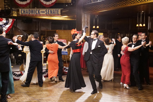 """MARVEL'S AGENT CARTER - """"Life of the Party"""" - When Peggy realizes she cannot save Wilkes on her own, she turns to her most unexpected adversary for help while Whitney makes a move to control the deadly Zero Matter, on """"Marvel's Agent Carter,"""" TUESDAY, FEBRUARY 16 (9:00-10:00 p.m. EST) on the ABC Television Network. (ABC/Kelsey McNeal) BRIDGET REGAN, JAMES D'ARCY"""