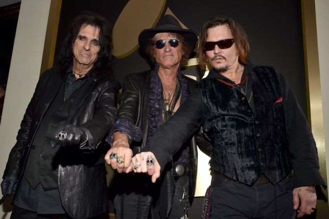 Alice Cooper, Joe Perry and Johnny Depp