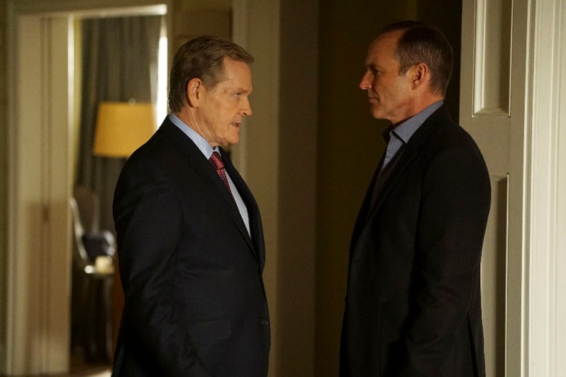 """MARVEL'S AGENTS OF S.H.I.E.L.D. - """"Bouncing Back"""" - In the midseason premiere, """"Bouncing Back,"""" in the aftermath of his trip to Maveth, Coulson is more determined than ever to get to Gideon Malick and put an end to Hydra once and for all. Meanwhile, Daisy and the team encounter more Inhumans who have powers like they've never seen before, but will they be friends or enemies of S.H.I.E.L.D.? """"Marvel's Agents of S.H.I.E.L.D."""" returns for a game-changing second half of Season Three, TUESDAY, MARCH 8 (9:00-10:00 p.m. EST) on the ABC Television Network. (ABC/Eric McCandless) WILLIAM SADLER, CLARK GREGG"""