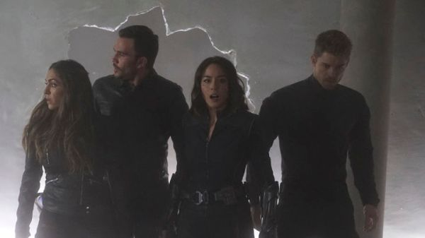 "MARVEL'S AGENTS OF S.H.I.E.L.D. - ""The Team"" - Agent Daisy Johnson must call upon the Secret Warriors for an inaugural mission that will leave no member unscathed, and S.H.I.E.L.D. learns more about Hive's powers, forcing them to question everyone they trust, on ""Marvel's Agents of S.H.I.E.L.D.,"" TUESDAY, APRIL 19 (9:00-10:00 p.m. EDT), on the ABC Television Network. (ABC/Eric McCandless) NATALIA CORDOVA-BUCKLEY, JUAN PABLO RABA, CHLOE BENNET, LUKE MITCHELL"