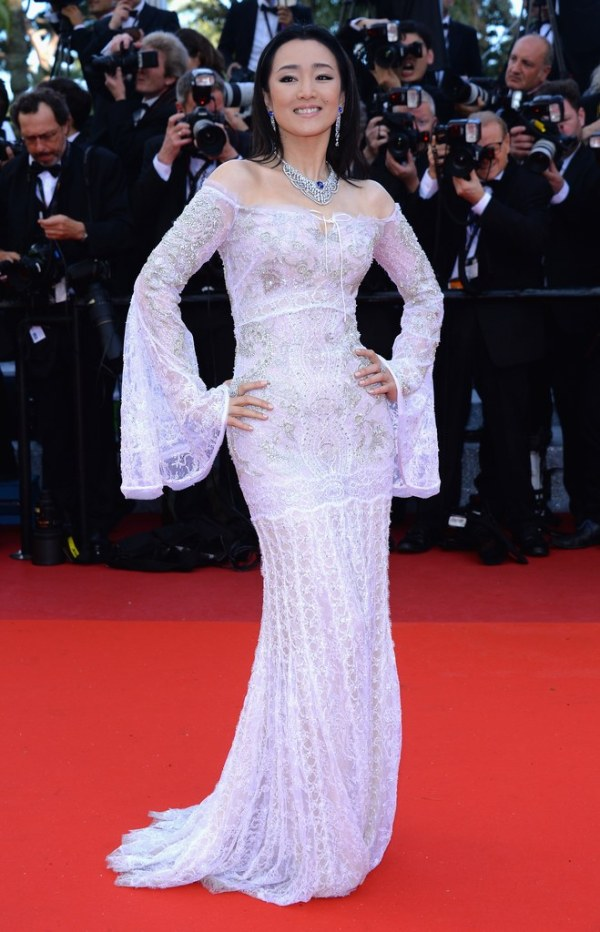 Gong Li in Cavalli Couture