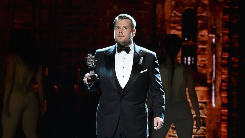 NEW YORK, NY - JUNE 12:  Host James Corden onstage during the 70th Annual Tony Awards at The Beacon Theatre on June 12, 2016 in New York City.  (Photo by Theo Wargo/Getty Images for Tony Awards Productions)