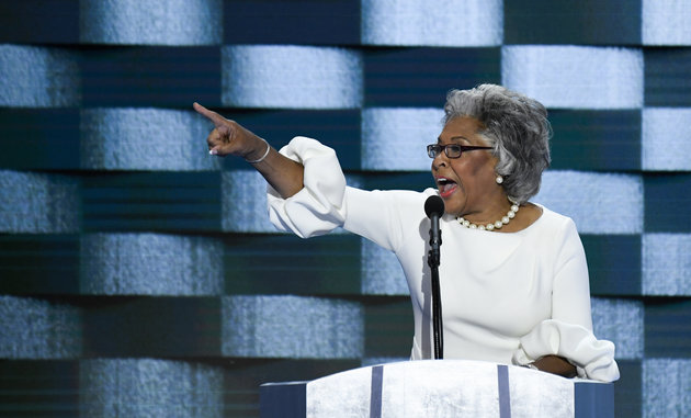 UNITED STATES - JULY 28: Rep. Joyce Beatty, D-Ohio, speaks at the Democratic National Convention in Philadelphia on Thursday, July 28, 2016. Sarah became the first transgender person to address a national political convention. (Photo By Bill Clark/CQ Roll Call)