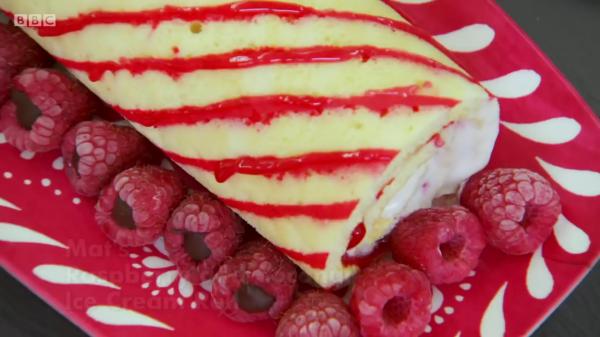 Mat's Raspberry&Coconut Swiss Ice Cream Roll