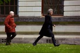 Programme Name: Doctor Who S10 - TX: 15/04/2017 - Episode: n/a (No. 1) - Picture Shows: Nardole (MATT LUCAS), Doctor Who (PETER CAPALDI) - (C) BBC - Photographer: Simon Ridgway