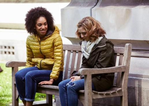 Programme Name: Doctor Who S10 - TX: 15/04/2017 - Episode: n/a (No. 1) - Picture Shows: Bill (PEARL MACKIE), Heather (STEPHANIE HYAM) - (C) BBC - Photographer: Simon Ridgway